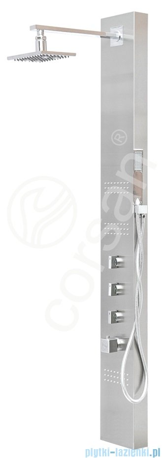 Corsan Neo Panel natryskowy z termostatem stal szczotkowana S-060T