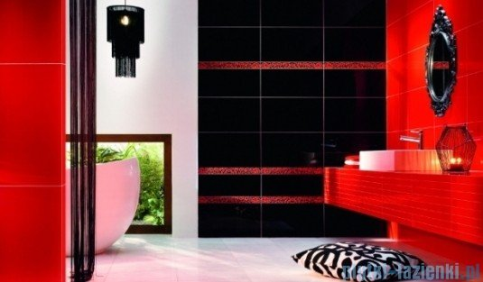 Listwa ścienna Tubądzin Colour Black&Red 1B 59,3x5,7