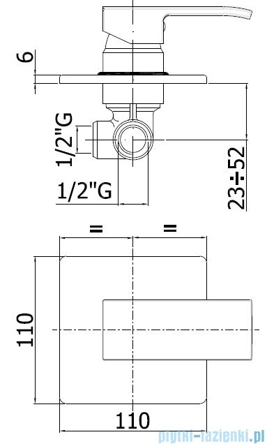 Paffoni Mieszacz podtynkowy Level Standard LES010
