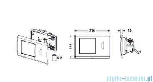 Tece Mechanizm spłukujący elektroniczny-do WC Teceplanus stal chromowa (połysk) 9.240.351