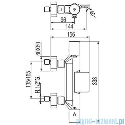 Tres Loft-Tres Bateria termostatyczna wannowa kolor chrom 200.174.09