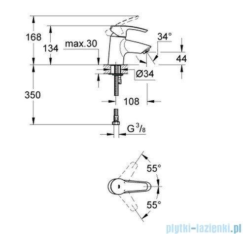 Grohe Eurostyle bateria umywalkowa DN 15  32468001