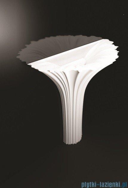 Marmorin umywalka stojąca Flora bez otworu biała P525075020010