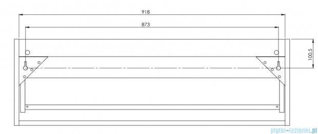 Antado Susanne szafka biała z blatem szary 95x46cm AS-140/95-WS+AS-B-140/95-74