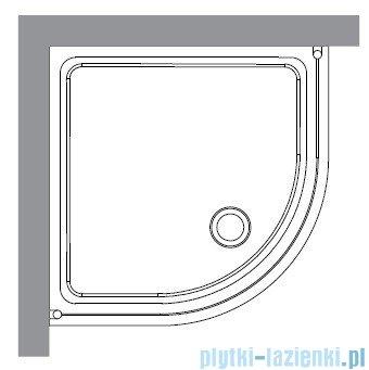 Kerasan Kabina półokrągła, szkło piaskowane profile brązowe 90x90 Retro 9151S3