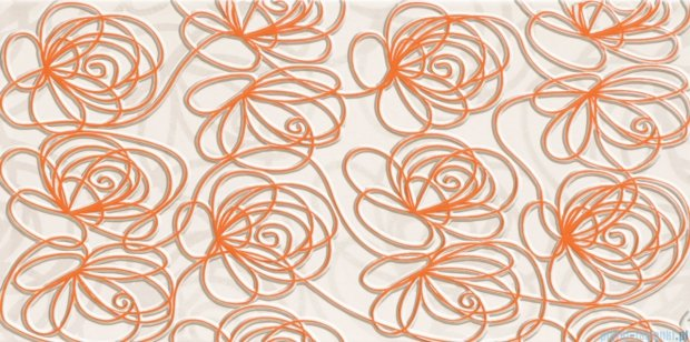 Tubądzin Wave modern orange dekor ścienny 22,3x44,8