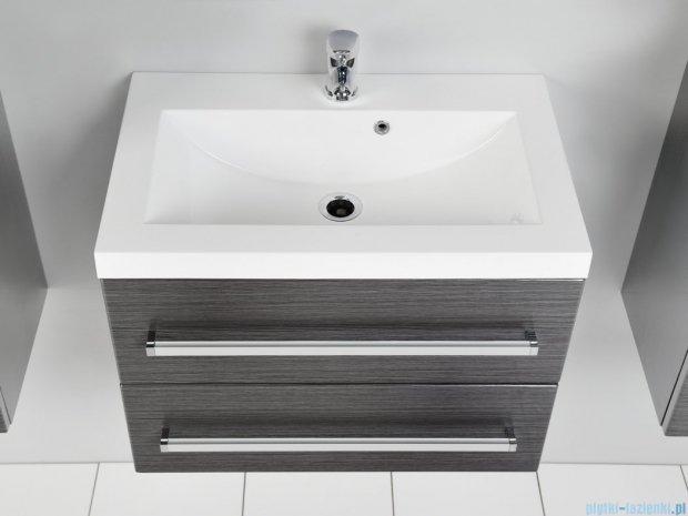 Antado Spektra szafka z umywalką, wisząca 60x39x40 grafit połysk FDF-C-442/6/2GT-46 + UMMC-600x390