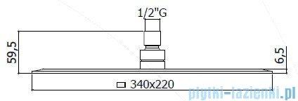 Paffoni  Deszczownica prostokątna 34x22 cm BLANC ZSOF102