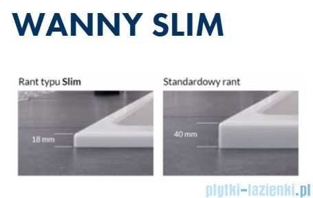 Excellent Sfera Slim wanna narożna 170x100 cm biała lewa WAEX.SFL17WHS