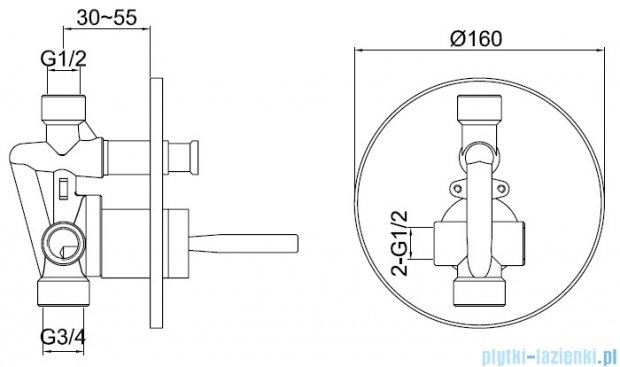 Kohlman Maxima zestaw prysznicowy chrom QW210MR40