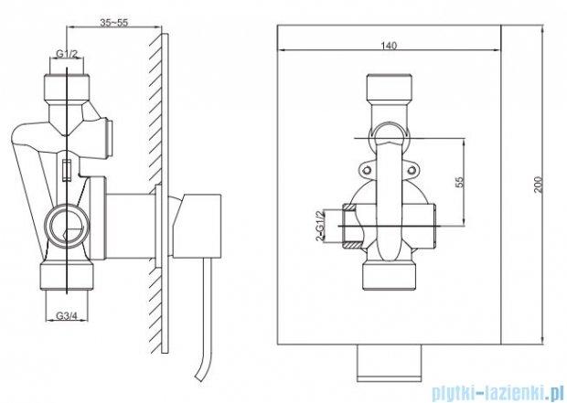 Kohlman Axis zestaw prysznicowy chrom QW220NQ25