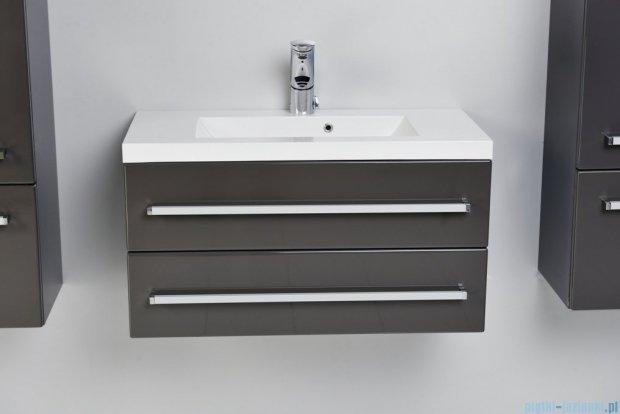 Antado Spektra szafka z umywalką, wisząca 80x39x40 szary połysk wolfram grey FDF-C-442/8/2GT-56 + UMMC-800x390