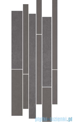 Paradyż Doblo grafit mix paski listwa 20x52