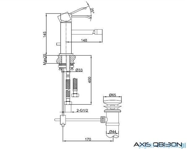 Kohlman Axis bateria bidetowa QB130N