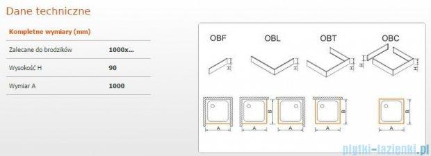 Sanplast Obudowa frontowa do brodzika OBF 100x9 cm 625-400-0330-01-000