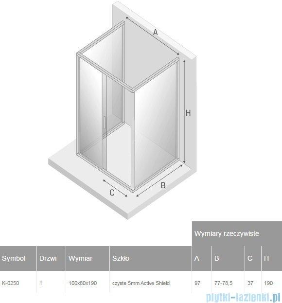 New Trendy Varia kabina prysznicowa trójścienna 80x100x80x190 cm przejrzyste K-0250