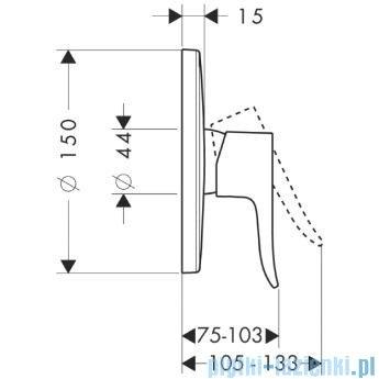 Hansgrohe Metris Jednouchwytowa bateria prysznicowa podtynkowa element zewnętrzny 31685000