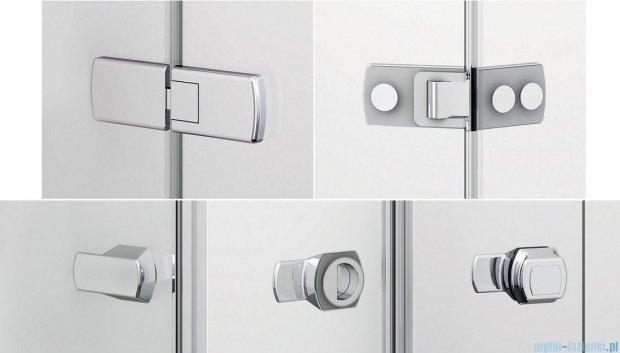 Sanswiss Melia ME13P Drzwi ze ścianką w linii lewe 120x200cm przejrzyste ME13PG1201007