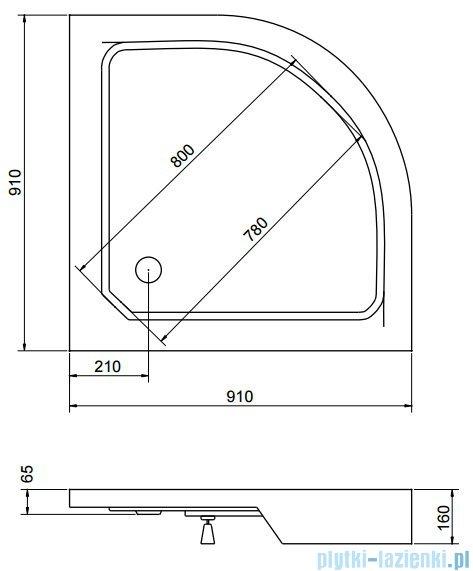 Sea Horse Sigma zestaw kabina natryskowa półokrągła 90x90cm grafit+brodzik BKZ2/3/RG