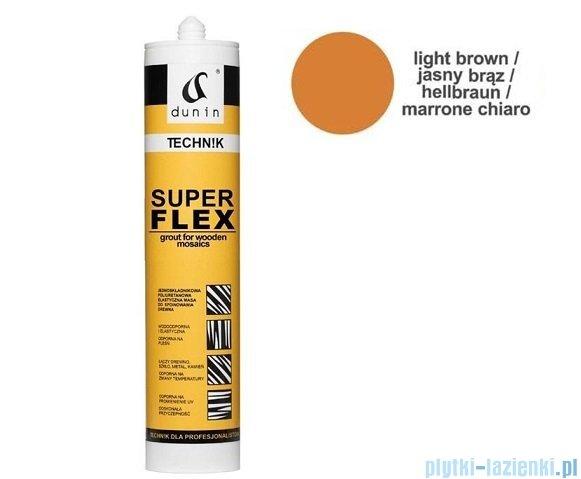 Dunin techn!k profesjonalna fuga do spoinowania mozaiki drewnianej kolor jasny brąz SUPERFLEX