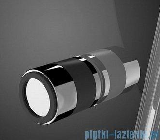 Radaway Eos II KDS kabina prysznicowa 90x80 lewa szkło przejrzyste + brodzik Argos D + syfon 3799481-01L/3799410-01R/4AD89-01