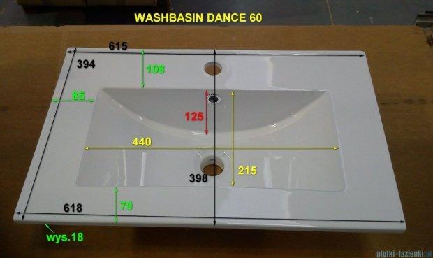 Antado umywalka ceramiczna 39x61cm UCE-60