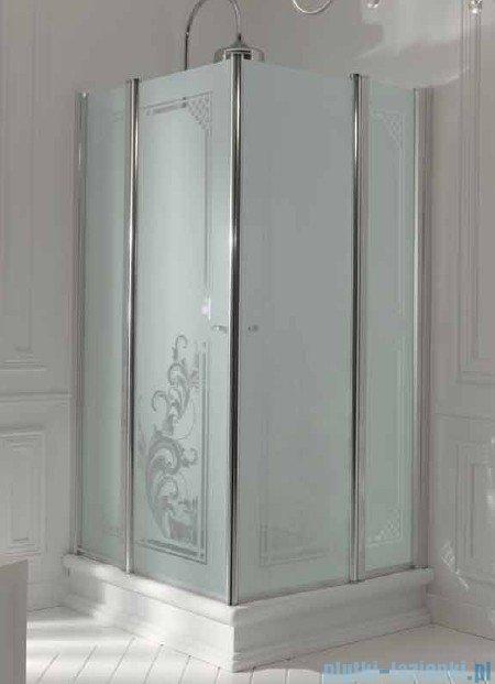 Kerasan Retro Kabina kwadratowa szkło przejrzyste profile chrom 100x100 9148T0