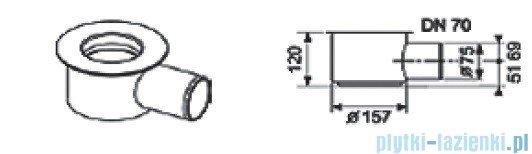 Tece Kolano odpływowe z syfonem Tecedrainline 1,20l/s 6.500.02