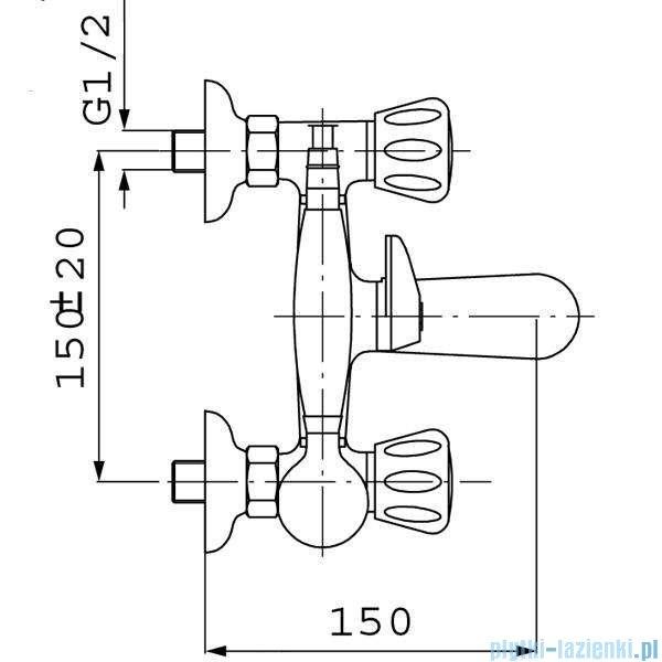 Ferro Standard Bateria wannowo-prysznicowa ścienna chrom BST11