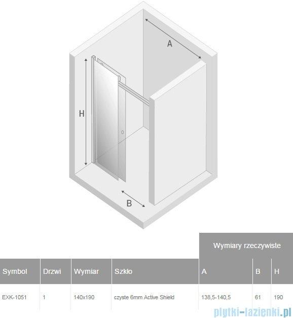 New Trendy Diora drzwi prysznicowe 140  EXK-1051