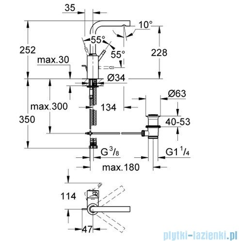 Grohe Essence bateria umywalkowa DN 15 32628000