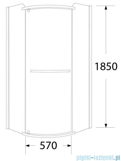 Sea Horse Sigma kabina natryskowa narożna półokrągła lewa 80x80cm szkło Moon BK001/3/RML