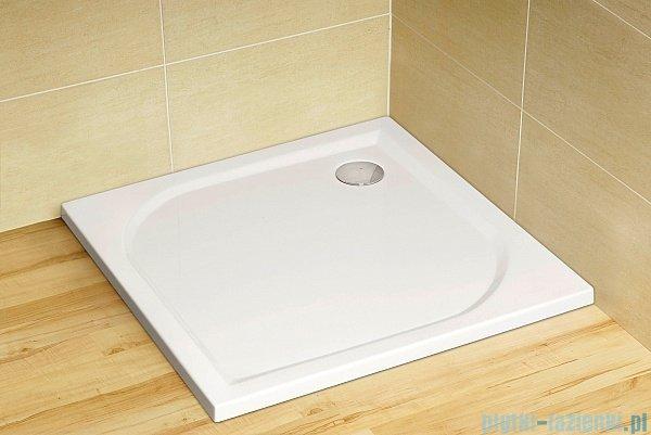 Radaway Eos II Walk-in kabina prysznicowa 80 lewa szkło przejrzyste + brodzik Delos C + syfon 3799500-01L/SDC0808-01