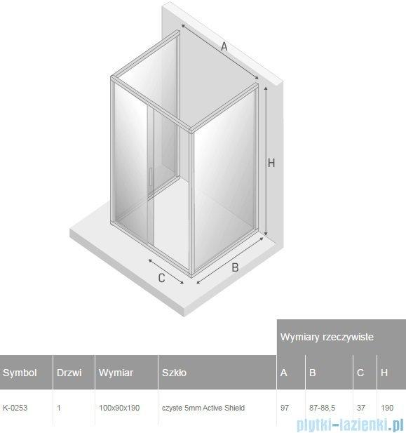 New Trendy Varia kabina prysznicowa trójścienna 90x100x90x190 cm przejrzyste K-0253