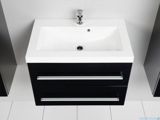 Antado Variete szafka z umywalką, wisząca z dwiema szufladami 60x39x40 czarny połysk FM-C-442/6/2GT-9017 + UMMC-600X390