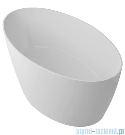 Omnires Siena wanna wolnostojąca 160,5x80,5cm biały połysk MARBLE+SIENA160CP