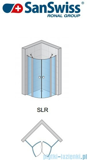 SanSwiss Swing Line SLR Kabina półokrągła 80-100cm profil srebrny SLR55SM10107