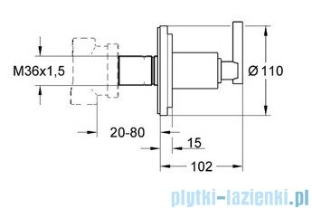 Grohe Atrio przełącznik czterodrożny chrom 19133000