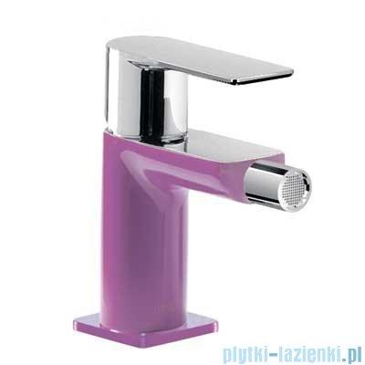 Tres Loft Colors Bateria bidetowa z korkiem automatycznym kolor fioletowy 200.120.01.VI.D