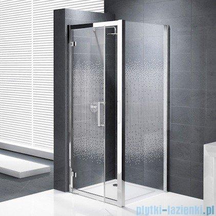 Novellini Elysium Kuadra G Drzwi obrotowe 90cm szkło przejrzyste profil chrom KUADG90-1K