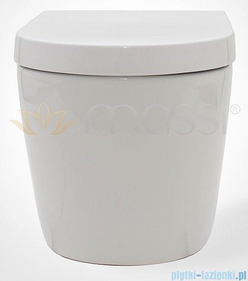 Massi Loca miska wisząca+deska wolnoopadająca biała MSM-3083PP