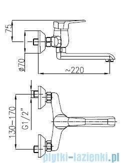 KFA BERYL Bateria umywalkowa ścienna 4800-810-00
