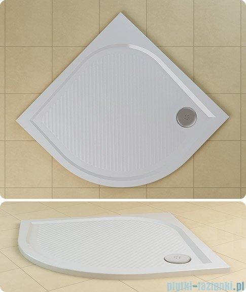 SanSwiss WMR Brodzik półokrągły konglomeratowy 90x90cm granit czarny WMR550900154