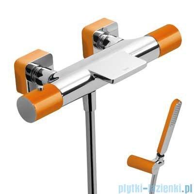 Tres Loft Colors Bateria termostatyczna wannowa kolor pomarańczowy 200.174.09.NA