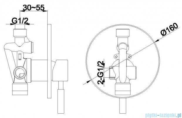 Kohlman Roxin zestaw prysznicowy chrom QW220RSP4