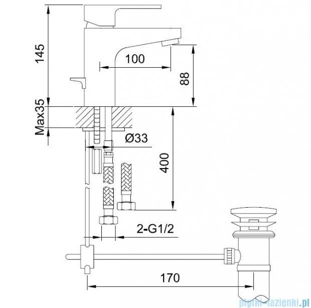 Kohlman Cexams 1-otworowa bateria umywalkowa QB100C