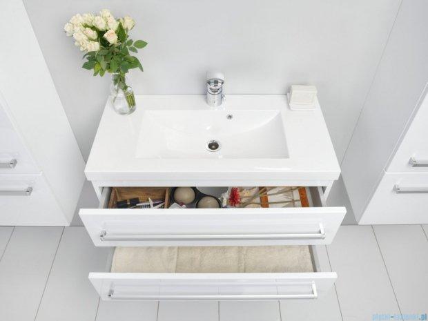 Antado Variete szafka z umywalką, wisząca z dwiema szufladami 80x39x40 biały połysk FM-C-442/8/2GT + UMMC-800x390