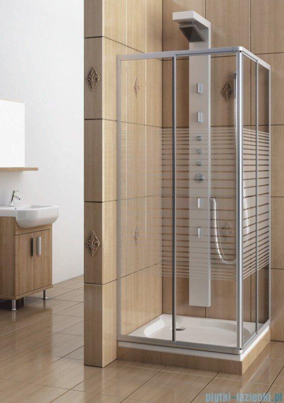 Aquaform Variabel kabina prysznicowa kwadratowa szkło pasy profil chrom mat 26950