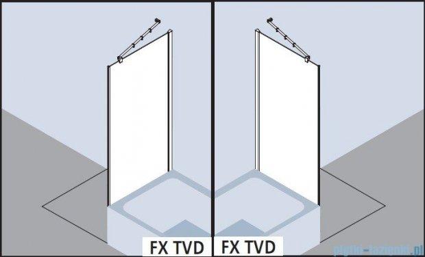 Kermi Filia Xp Ściana boczna skrócona obok wanny, szkło przezroczyste, profile srebrne 80x175cm FXTVD08017VAK