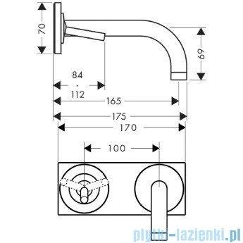 Hansgrohe Axor Uno² Jednouchwytowa bateria umywalkowa z płytką 38112000